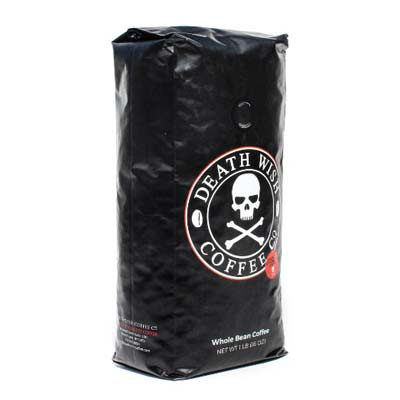 1. Death Wish Whole Bean Coffee (16-ounce Bag)