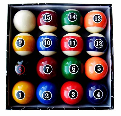4. Iszy Billiards Pool Ball Set (Modern Style)