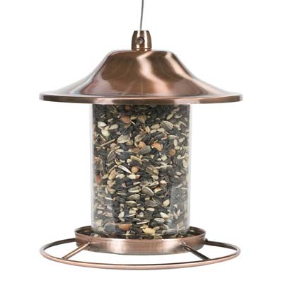 6. 312C Copper Panorama Bird Feeder by Perky-Pet