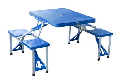 1. Outsunny Folding Camp Table