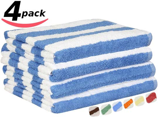 4. Large Beach-Towel Pool-Towel in Cabana Stripe