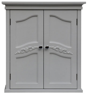 8. Elegant Home Fashion White 2-Door Wall Cabinet