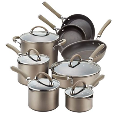 10. Circulon 13-Piece Stainless Steel Cookware Set
