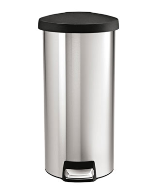6. simplehuman 30 L/ 8 Gal Stainless Steel Trash Can
