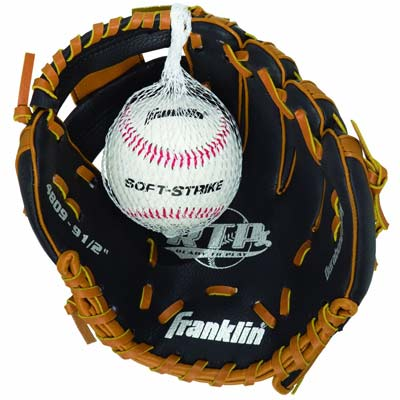 4. Franklin RTP Gloves & Ball Combo