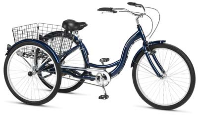 8. Schwinn Hampton 26-Inch Dark Blue Tricycle