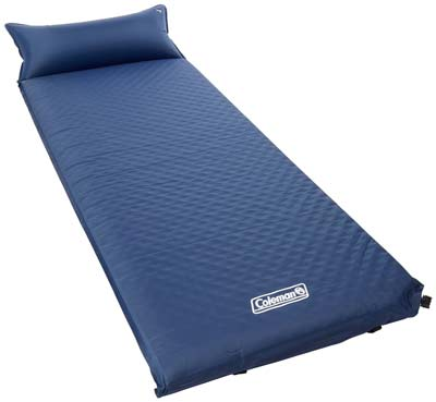 3. Coleman Camp Pad with Attached Pillow