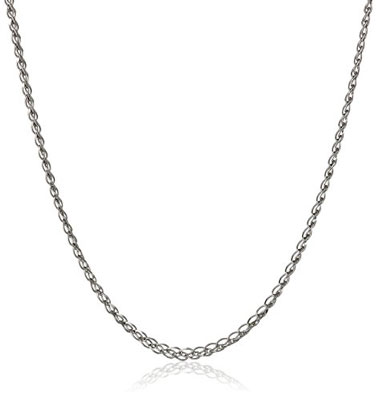 3. Amazon Collection White Gold Chain Necklace