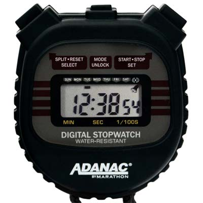 8. MARATHON 3000 Digital Stopwatch Timer
