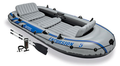 1. Intex Excursion 5 Inflatable Boat Set