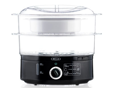 6. BELLA 7.4 Quart Dual Basket Food Steamer