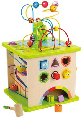 7. Hape Country Critters Play Cube