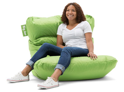 10. Big Joe Spicy Lime Bean Bag Chair