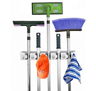 1. Home-It Mop and Broom Holder