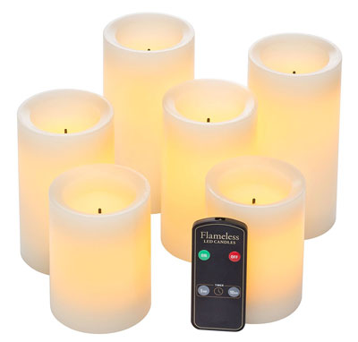 9. Northern International Set of 6 Flameless Candles