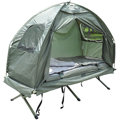 2. Outsunny Portable Camping Tent (with Air Mattress & Sleeping Bag)