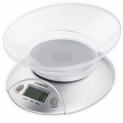 5. Etekcity Digital Food Scale and Kitchen Weight Scale with Removable Bowl