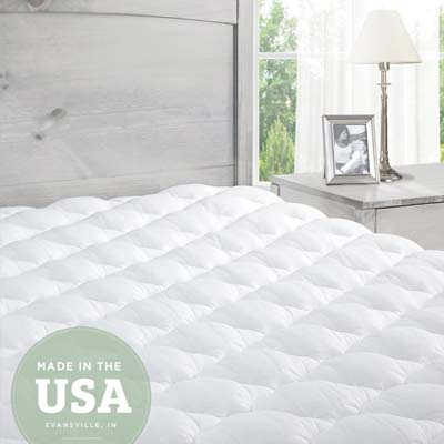 10. ExceptionalSheets Mattress Pad with Fitted Skirt