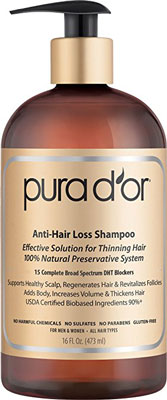 1. PURA D'OR Anti-Hair Loss Gold Label Shampoo