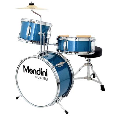 2. Mendini by Cecilio Metallic Blue Drum Set