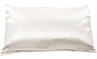 6. Fishers Finery Silk Pillowcase (White, Queen)