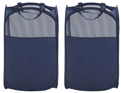3. Storagemaniac Foldable Laundry Hamper – Reinforced Carry Handles (Pack of 2)