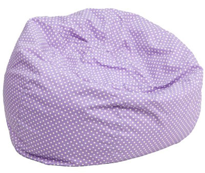 6. Flash Furniture Bean Bag Chair (Lavender Dot)