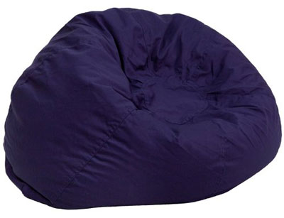 7. Flash Furniture Bean Bag Chair (Solid Navy Blue)