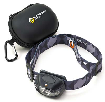 6. Ultra Bright LED Headlamp Flashlight and Case