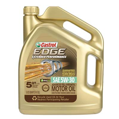 3. Castrol 03087 Synthetic Motor Oil