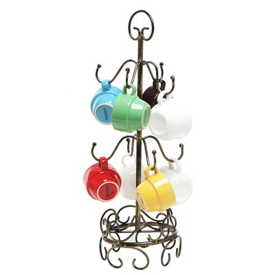 8. MyGift 8 Hook Drying Stand