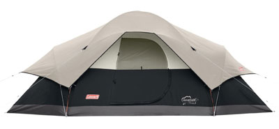 9. Coleman 8-Person Portable Camping Tent (Red Canyon)