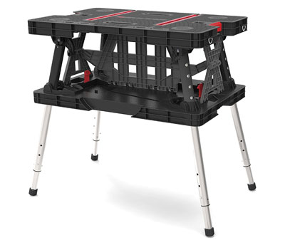 8. Keter Folding Table Work Station Solution (22 x 33.5 x 30.3 in.)