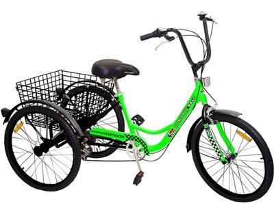 2. Komodo Cycling #7002 Adult Tricycle (Green/Black)
