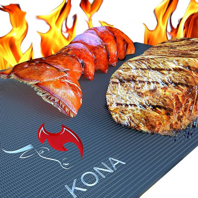 4. Kona BBQ Grill Mat (Set of 2)