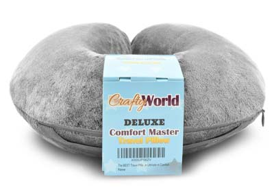 2. Crafty World Travel Pillow