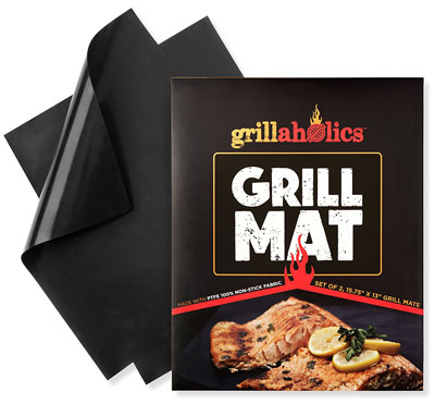 2. Grillaholics BBQ Grill Mats (Set of 2)