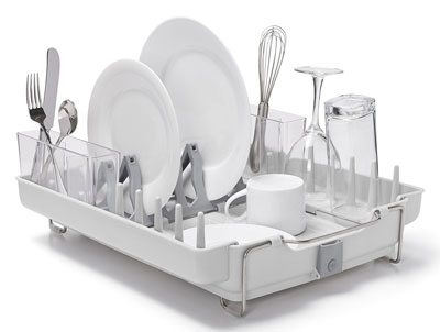 3. OXO Good Grips Stainless Steel Dish Rack