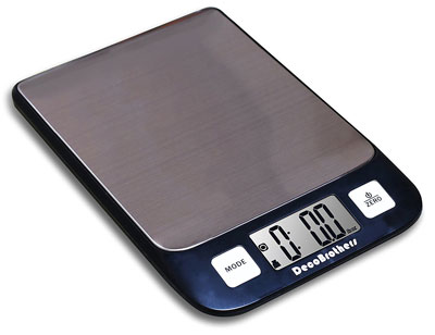 8. Deco Brothers Elegant Black Digital Kitchen and Food Scale
