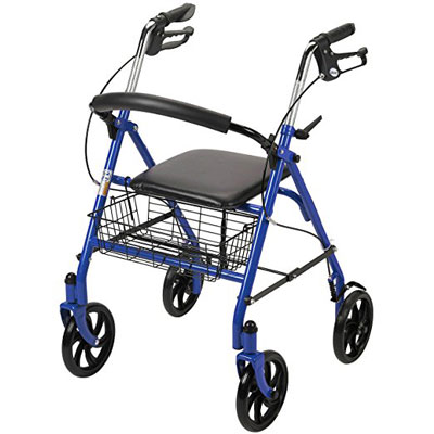 1. Drive Medical Four Wheel Walker Rollator
