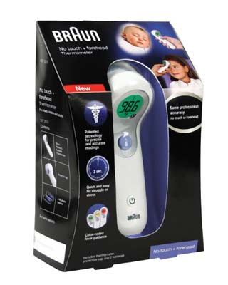 8. Braun NTF3000US Forehead Thermometer