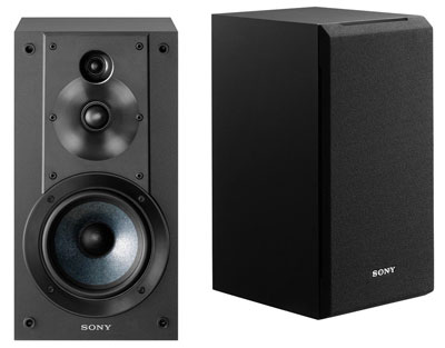 10. Sony SSCS5 3-Way Black Bookshelf Speaker System