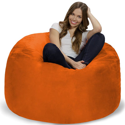 Chill Bag Bean Bags 4 Feet Orange Chair