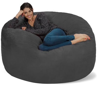 Chill Bag Bean Bags 5 Feet Charcoal Chair