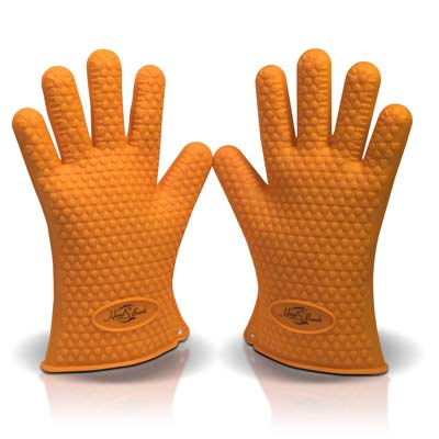6. Silicone BBQ Grill Gloves