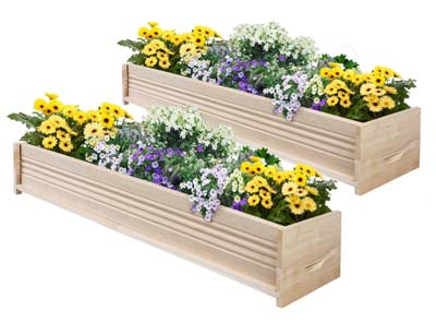 7. Cedar Patio Planter Box by Greenes Fence