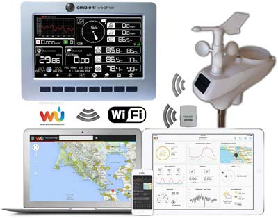 1. Ambient Weather WS-1001-WIFI Weather Station