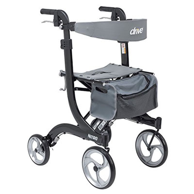10. Drive Medical RTL10266BK-T Black Walker Rollator