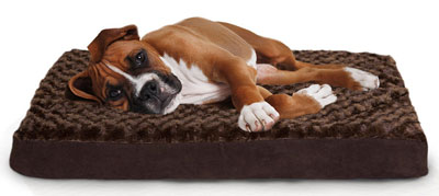 1. Furhaven Egg Crate Mattress Pet Bed (Chocolate)