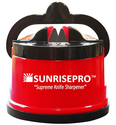 8. SunrisePro Red Knife Sharpener